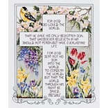 Janlynn 80-0476 Multicolor 12.25 x 10.25 John 3:16-17 Counted Cross Stitch Kit