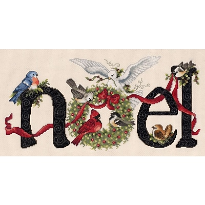 Janlynn 80-0481 Multicolor 7 x 14.25 Noel Counted Cross Stitch Kit