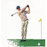Thea Gouverneur TG3032 Multicolor 6.75 x 6.25 Counted Cross Stitch Kit, Golf