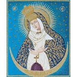 Thea Gouverneur TG530A Multicolor 11.75x9.75 Our Lady Of The Gate On Aida Counted Cross Stitch Kit