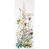 Thea Gouverneur TG821A Multicolor 43.25 x 17.75 Wild Flowers On Aida Counted Cross Stitch Kit