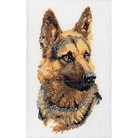 Thea Gouverneur TG934A Multicolor 13 x 9.5 Shepherds Dog On Aida Counted Cross Stitch Kit