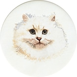 Thea Gouverneur TG1045A White 16.5White Persian Cat On Aida Counted Cross Stitch Kit