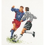 Thea Gouverneur TG3030A Multicolor 6.75 x 6.25 Counted Cross Stitch Kit, Football (Soccer)