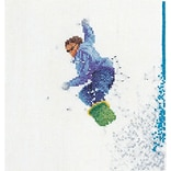 Thea Gouverneur TG3055A Multicolor 6.75 x 6.25 Counted Cross Stitch Kit, Snowboarder