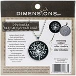 Dimensions 72-74073 Multicolor 1.25 Dandelion Pattern Metal Bezel Jewelry Embroidery Kit