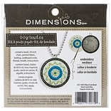 Dimensions 72-74074 Multicolor 1.5 Blue Circle Pattern Metal Bezel Jewelry Embroidery Kit