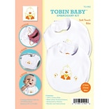 Tobin T21902 White Duck Soft Touch Bibs Embroidery Kit, 2/Set