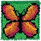 "Wonderart 426137C Multicolor 8"" x 8"" Latch Hook Kit, Butterfly"