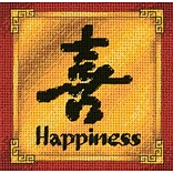 Dimensions 17057 Multicolor 5 x 5 Jiffy Happiness Mini Needlepoint Kit
