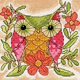 Dimensions 71-07241 Multicolor 5 x 5 Mini Needlepoint Kit, Whimsical Owl