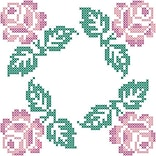 Fairway 92502 18 x 18 Roses In Four Corners Stamped Quilt Blocks, 6/Pack