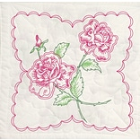 Fairway 95395 18 x 18 Roses with Heart Background Stamped Quilt Blocks, 6/Pack