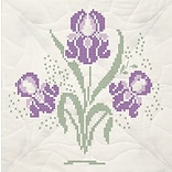 Fairway 95493 18 x 18 Iris with Quilting Marks Stamped Quilt Blocks, 6/Pack