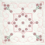 Fairway 98205 18 x 18 Lazy Daisy Stamped Quilt Blocks, 6/Pack
