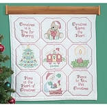 Jack Dempsey 739 641 Multicolor 36 x 36 Christmas Blessing Stamped White Wall or Lap Quilt