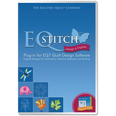 Electric Quilt A-STITCH Embroidery Software Plug-In for Model EQ7