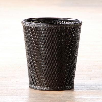 LaMont Carter Waste Basket; Black