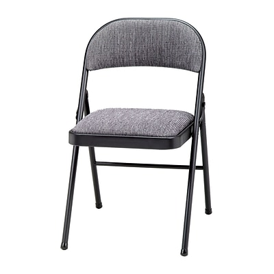 Excellent Sudden Comfort Deluxe Metal Fabric Folding Chair Black Lace Mist Pabps2019 Chair Design Images Pabps2019Com