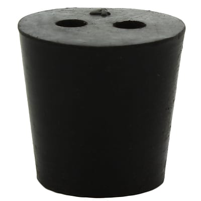 Midland Scientific Inc. Rubber Stopper with 2-hole; Size 4, 30/lb