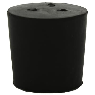 Midland Scientific Inc. Rubber Stopper with 2-holes, Size 5, 25/lb ( Model No. R6240-5 LB)
