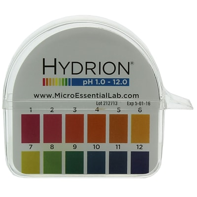 Micro Essential Lab Hydrion Jumbo pH Paper Dispenser; 1-12 (HJ600 EA)