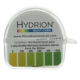 Micro Essential Lab Hydrion Single Roll Quaternary Check Test Paper; 10/Case