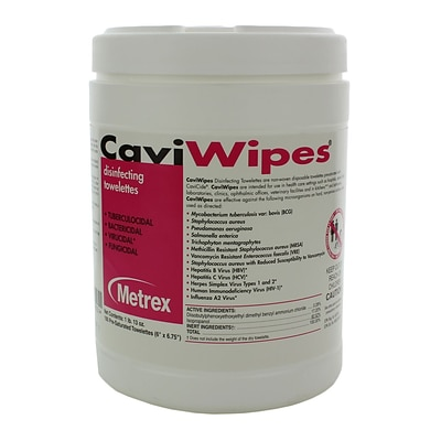 Metrex Caviwipes Disinfecting Towelette; 12/Case