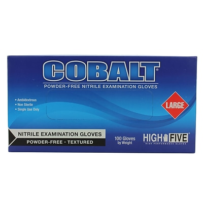 High Five Products Inc Nitrile Gloves Cobalt; 4mil, Large 100/Pack (N193 PK)