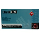High Five Products Inc Nitrile Gloves; 4 mil, Large, Industrial, 1000/Case