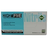 High Five Products Inc Nitrile Gloves; 4 mil, Medium, 100/Pack