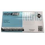 High Five Products Inc Nitrile Gloves Blue; 4mil, 2X-Large, 100/Pack (HFG N855 PK)