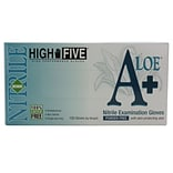 High Five Products Inc A+ Aloe Nitrile Gloves; 4 mil, Medium, 10/Pack