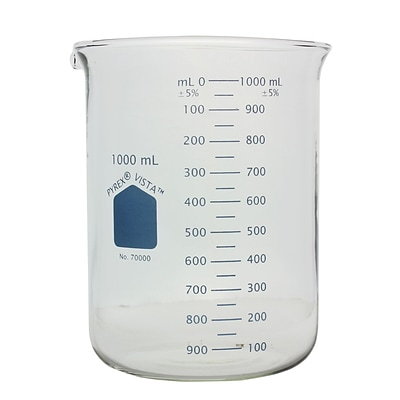 Pyrex Vista 1000 ml Low Form Griffin Beaker