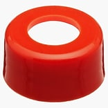 National Scientific Inc. Polypropylene Screw Cap, Red, 10-425mm, 1000/Case