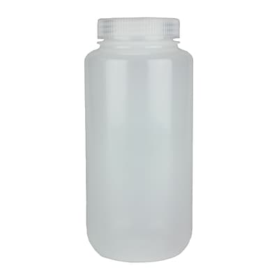 Nalge Nunc International Corp LDPE Wide Mouth Bottle, 1000 ml, 6/Pack