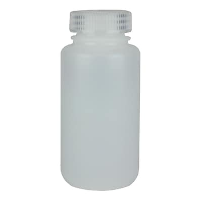 Nalge Nunc International Corp HDPE Lab Quality Wide Mouth Bottle, 250 ml, 72/Case