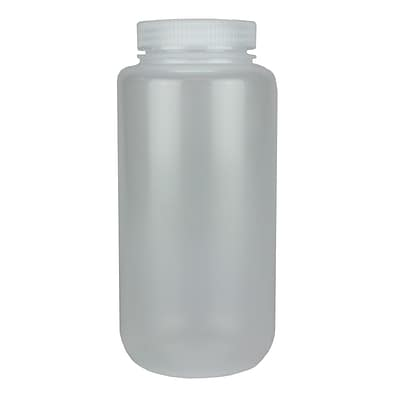 Nalge Nunc International Corp HDPE Lab Quality Wide Mouth Bottle, 1000 ml