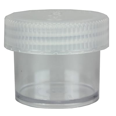 Nalge Nunc International Corp Polycarbonate Straight-Sided Wide-Mouth Jar with Cap, 60 ml, 4/Pack