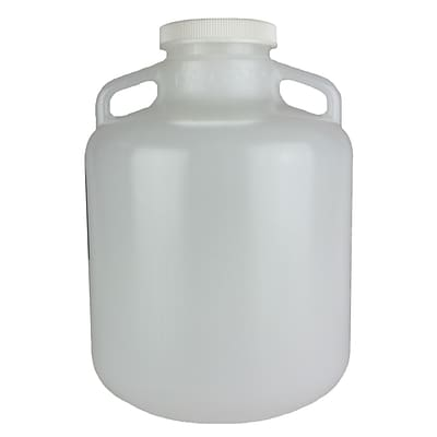 Nalge Nunc International Corp LDPE Wide Mouth Carboy with Cap, 10 l