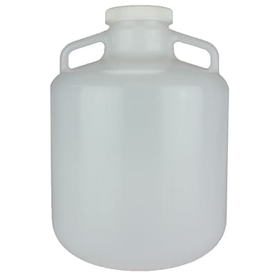 Nalge Nunc International Corp LDPE Wide Mouth Carboy with Cap, 15 l