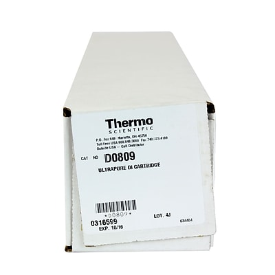 Thermo Fisher Scientific LLC Deionizer Cartridge, 875 grain