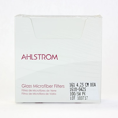 Ahlstrom Filtration LLC Filter Paper, Grade 161, 1.67, 100/Pack
