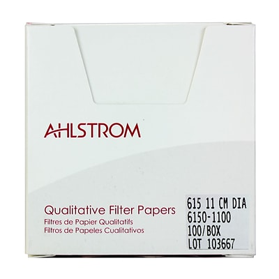 Ahlstrom Filtration LLC Filter Paper, Grade 615, 4.33, 100/Pack
