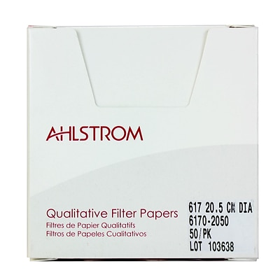 Ahlstrom Filtration LLC Filter Paper, Grade 617, 8.07, 100/Pack