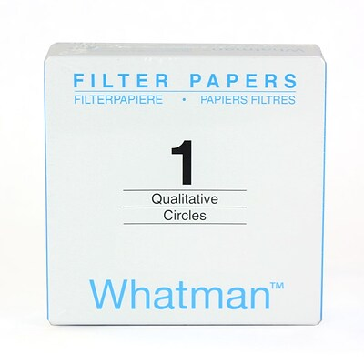 Whatman GE Healthcare Biosciences Filter Paper, Grade 1, 1.67, 100/Pack