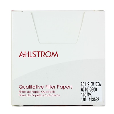 Ahlstrom Filtration LLC Filter Paper, Grade 601, 3.54, 100/Pack