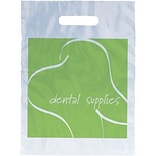 Medical Arts Press® Dental Non-Personalized 1-Color Supply Bags, 7-1/2x9, Green Tooth