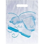 Medical Arts Press® Dental Non-Personalized 1-Color Supply Bags, 9x13, Brush Floss Smile