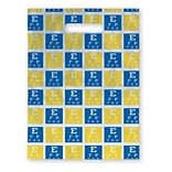 Medical Arts Press® Eye Care Scatter Print Bags, 9x13,  Blue & Yellow Eye Chart
